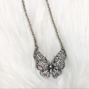12 inch Sparkly Butterfly Necklace